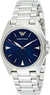 Emporio Armani Men's Blue Dial Stainless Steel Analog Watch - AR11307