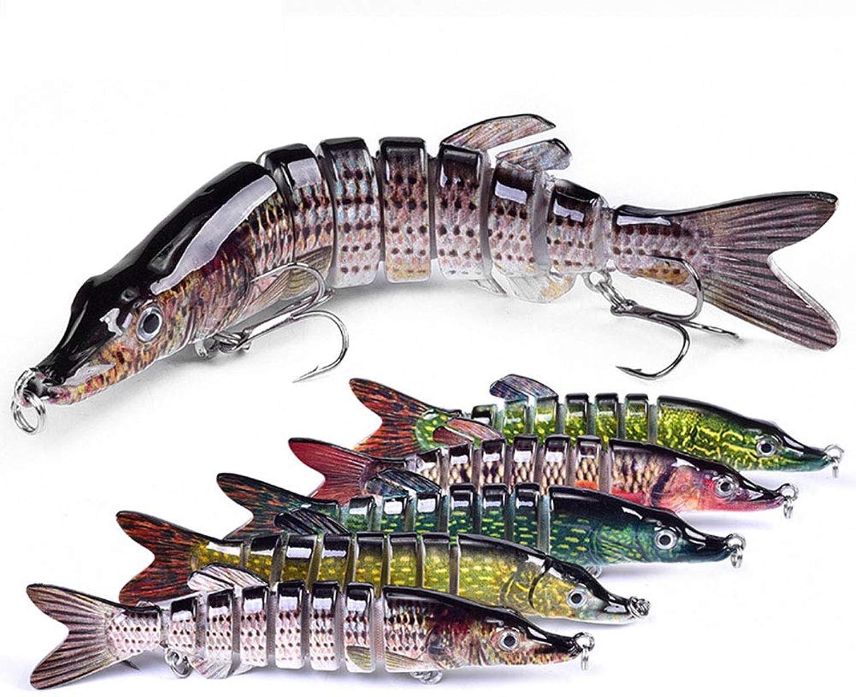 FRHP Kder Süwasserfischerei Kder Hecht Angelausrüstung Multi-Abschnitt 20 g Kder Nachahmung Kder harten Kder Locken 12,5 cm