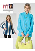 Vogue Sandra Betzina Pattern 1443 Misses and Womens Blouse, Button Front or Pullover, Sizes 10-32W