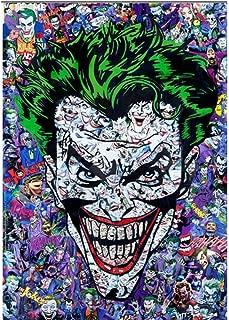 RONGANGT DIY Diamond Mosaic Joker Batman Halloween Gifts Diamond Paintings Cross Stitch Kits Diamond Embroidery New Patterns-30x40cm(11.8x15.7inch)