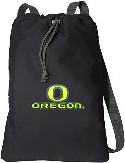 Broad Bay University of Oregon Drawstring Backpack Rich Canvas UO Cinch Bag