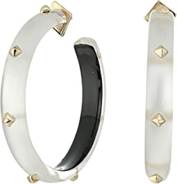 Gold Studded Hoop Earrings