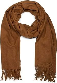 styleBREAKER Unisex weicher uni Schal mit Fransen, Winter, Stola, Tuch 01017104