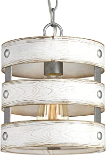 Progress Lighting P500022-141 Gulliver Mini-Pendant, Galvanized Finish