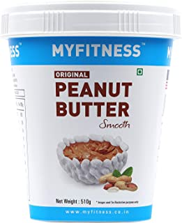I LOVE PB MYFITNESS Original Peanut Butter Smooth Crunchy Combo 510 g (Pack of 9)