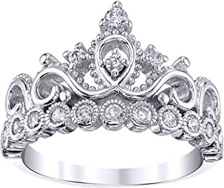 Best 925 silver crown ring Reviews