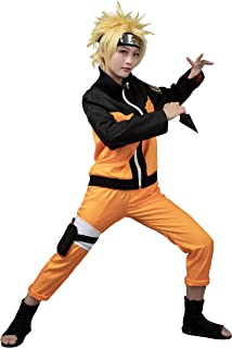 Deciduous Naruto Ninja Long Robe Akatsuki Cape Halloween Cosplay Costume Uniforme avec Serre-t/ête et Arme Accessoires pour Adultes Enfants Jeux de r/ôle Party Carnival Tenues
