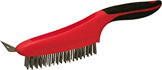 Red Devil 4164 13-Inch Soft Grip Stainless Steel Wire Brush with Scraper
