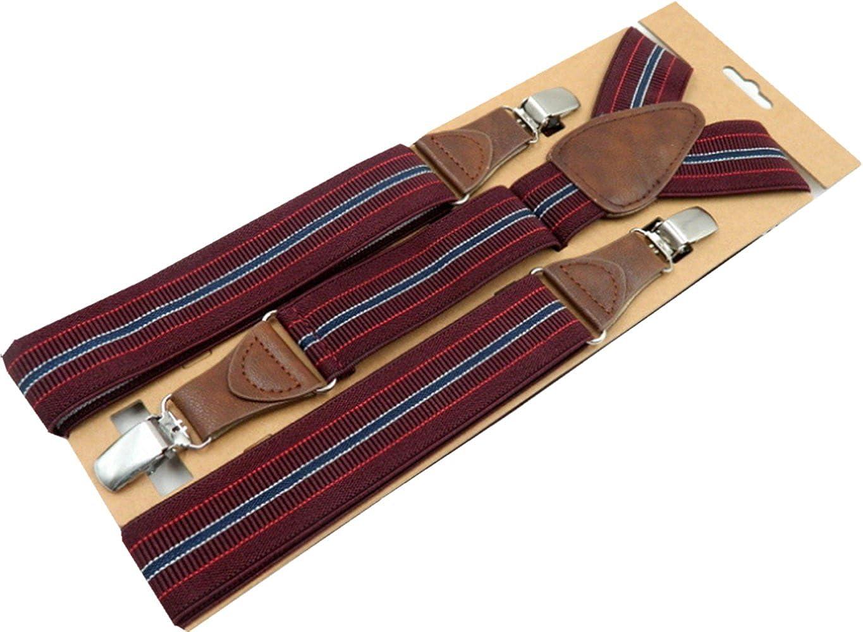 YUNEE Suspenders Modern Trousers Pants Men Women Y Shape 3.5 X 120 cm 3Clips