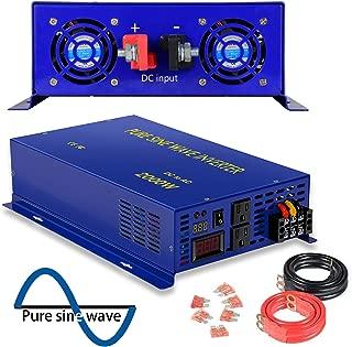 2500 Watt Pure Sine Wave Inverter 24V DC to 120V AC, 2500W Power Invert Surge 5000W Power Converter for Solar System. (2500W 24V 120V)