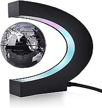 WAYRANK Floating Globe Magnetic Levitating World Map for Xmas Gift Home Office Desk Decoration Black