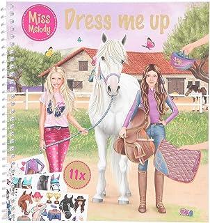 Depesche Depesche-DP-0011498 11498 Miss Melody Dress me up-Libro 24 páginas y 11 Hojas de Pegatinas, Aprox. 17,78 x 19 cm ...