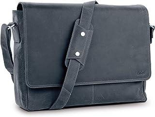 TALED® Premium Messenger Bag Herren - Laptoptasche Leder mit 15,6 Zoll - inkl. Schulterpolster - Hochwertige Herren Ledert...