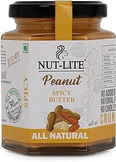 Nutlite Spicy & Crunchy Peanut Butter - Boost Immunity, Vitamins & Minerals, No Added Sugar, 150 Gm