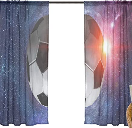 FFY Go Rideau En Voile Avec Motif De Jeu De Football, Matériau Souple Extra  Long
