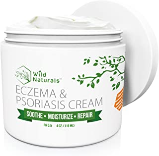 Wild Naturals Eczema Psoriasis Cream – for Dry, Irritated Skin, Itch Relief,..