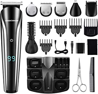 MIGICSHOW Beard Trimmer Kit For Men Cordless Hair Clippers Multi-functional Trimmer 6 in 1 Groomer Kitfor Nose Ear Facial Hair Precision Body Trimmer USB Rechargeable with LED Display