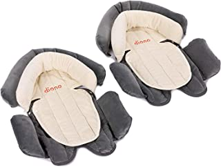 Diono Two2Go Cuddle Soft 2-in-1 Head Support, Grey/Arctic (2-Pack)