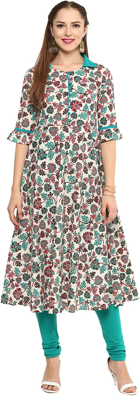 Yash Gallery お気に入 Indian Tunic Tops Floral Cotton Women's Anark 商品追加値下げ在庫復活 Print
