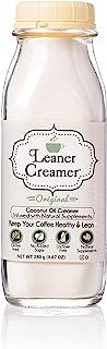 Leaner Creamer, Non-Dairy Coffee Creamer - Sugar Free, Low Calorie, Coconut Oil, Paleo, Keto, Gluten Free, Healthy Weight ...