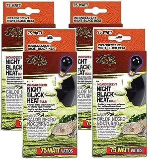 Zilla 4 Pack of Night Black Incandescent Heat Bulbs, 75 Watts