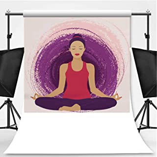 Vector jeffcyb of a Woman in a Lotus Pose Theme Backdrop Photography Background Backdrops,063326,6x10ft