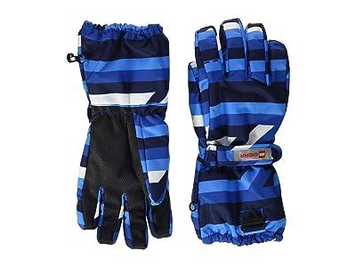 LEGO Kids Snow Gloves with Anti-Slip Grip Membrane (Little Kids/Big Kids) (Blue) Over-Mits Gloves