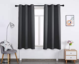 Blackout Window Curtain Panels Thermal Insulated Curtains Living Room and Bedroom Drapes Panels with Grommet,2 Panels (Dar...