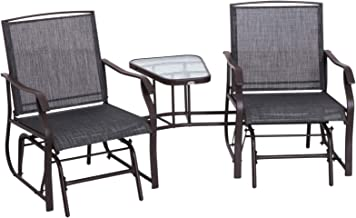 Best outdoor double glider chair Reviews