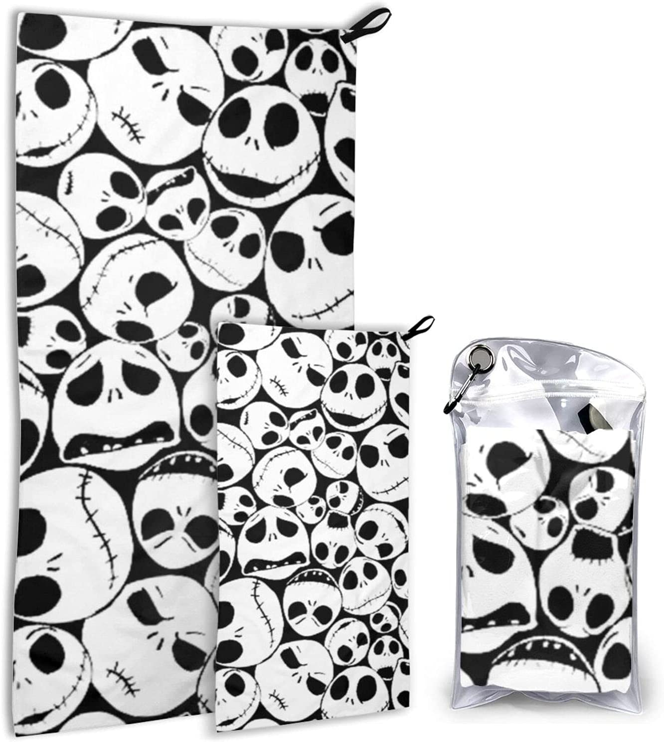 Black Christmas Skull Microfiber Popular products Towels 2 - Pack At the price Dry Cam Quick