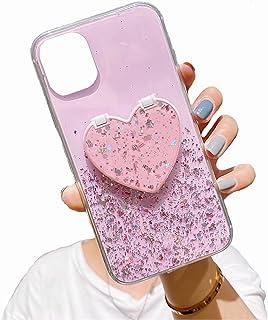 TYWZ Klart glittrande fodral för Huawei P Smart 2021, Bling Star Glitter design för kvinnor flickor mjuk TPU stöttålig rep...