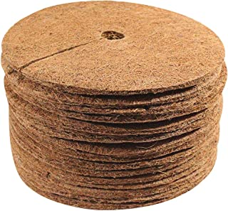 Envelor Coco Coir Mulch Disc Plant Cover Coconut Fibers Natural Mat 9 Inches Dia 15 Pack Tree Ring for Weed Control