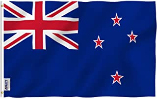 ANLEY® [Fly Breeze] 3x5 Foot New Zealand Flag - Vivid Color and UV Fade Resistant - Canvas Header and Double Stitched - Ne...