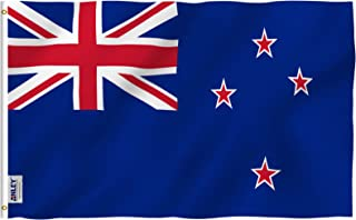 Anley Fly Breeze 3x5 Foot New Zealand Flag - Vivid Color and UV Fade Resistant - Canvas Header and Double Stitched - New Zealander Kiwi National Flags Polyester with Brass Grommets 3 X 5 Ft