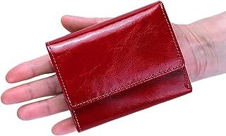 Itslife Slim Minimalist Front Pocket RFID Blocking Leather Wallets for Women Red