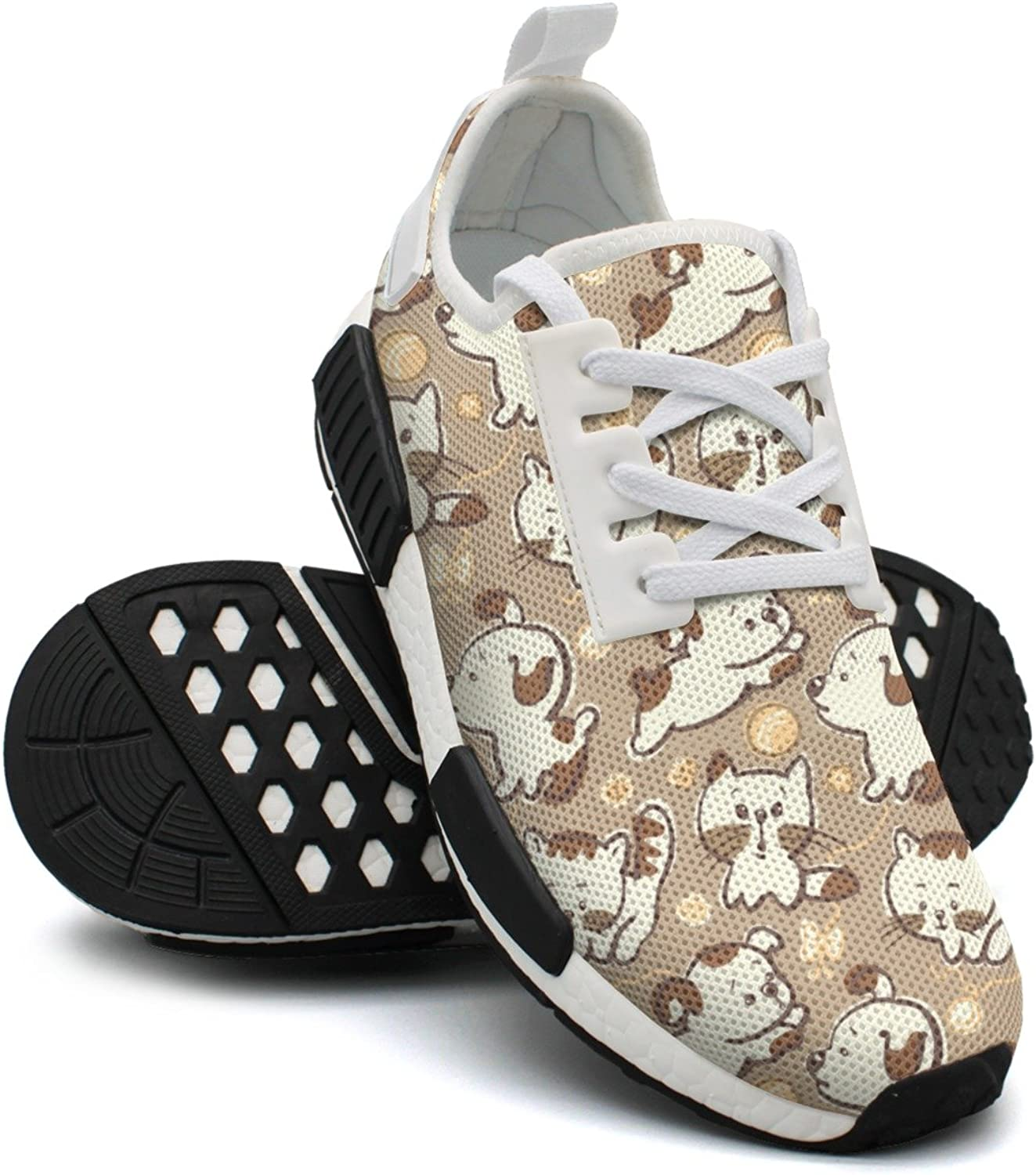 Ououla Cute Puppies And Kittens Womens Funny NMD PK Road Running shoes