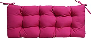 RSH Décor Sunbrella Canvas Hot Pink Indoor/Outdoor Tufted Cushion with Ties for Bench, Swing, Glider - Choose Size (60
