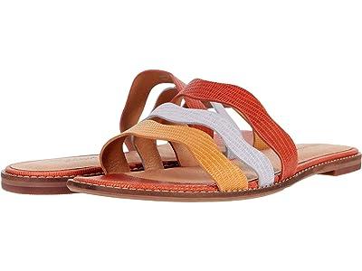 Madewell Joy Wavy Sandal in Lizard Color-Block