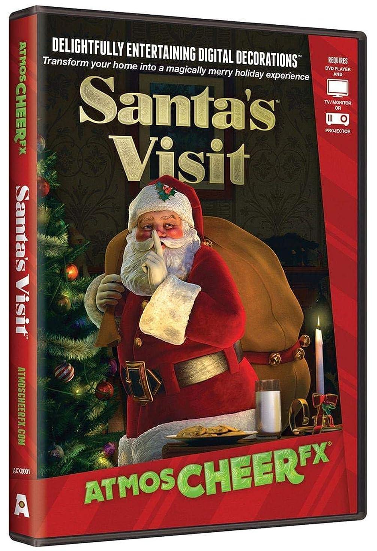 売る安価なマッシュAtmosCHEERfx Santa's Visit Holiday Digital Decorations