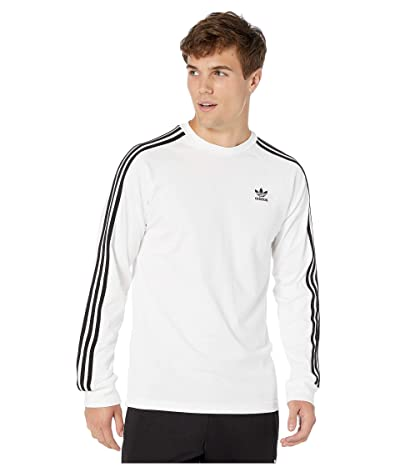 adidas Originals 3-Stripes Long Sleeve Tee (White) Men