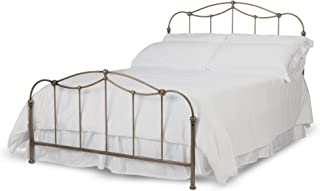 Fashion Bed Group Kalina Complete Bed with Metal Spindle Panels and Detailed Castings, Brushed Bronze Finish (Full)