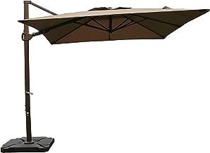SORARA Offset Cantilever Umbrella 9'x9' Outdoor Patio Umbrella (Weight Base not Included), Taupe