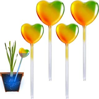 NiHome 4PCS Value Pack Hand Blown Glass Self Watering Bulbs, Indoor Outdoor Garden Patio Potted Plant Flower Herb Auto Irr...