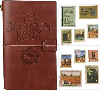 Nuestro libro de aventuras Diario recargable Cuaderno de cuero Diario de viaje Con ranuras para tarjetas y Bolsillo con cremallera Regalo personalizado para profesores Estudiantes Hombres Mujeres