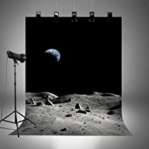Backdrops for Star Wars Themed Party Pictures Kids Birthday Harry Potter Themed Photo Booth Background Home Decoration Washable Cotton Polyester Wallpaper on Moon FD1525