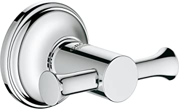 Grohe Essentials Authentic Bademantelhaken, 1 adet, 40656001, Gümüş, 40656001