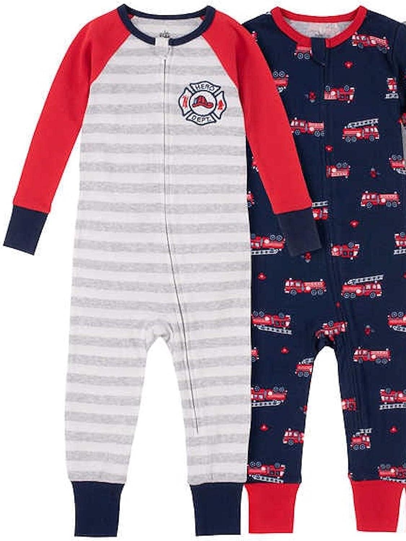 Kids Headquarters Baby Boy's 2 Pack Long Sleeve Sleeper with Zipper Closure