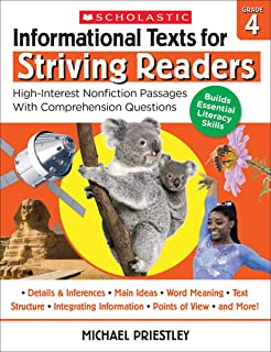 Informational Texts for Striving Readers: Grade 4: High-Interest Nonfiction Passages with Comprehension Questions