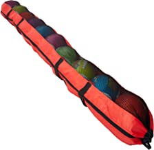 """XL Football Carrying Bag – Extra-long 93"""" Sports Duffel with Backpacking Carry Strap – Holds 10 Footballs - Travel Bag for..."""