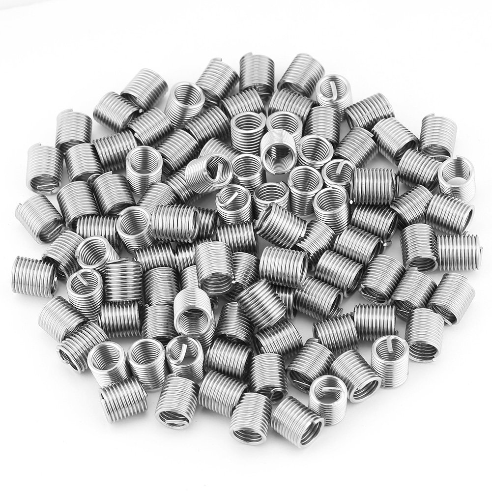 Max 61% OFF 100pcs Stainless Steel All items free shipping SS304 Coiled Helical Thread Screw Wire In